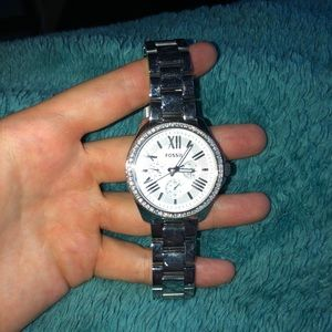 diamond fossil watch, new